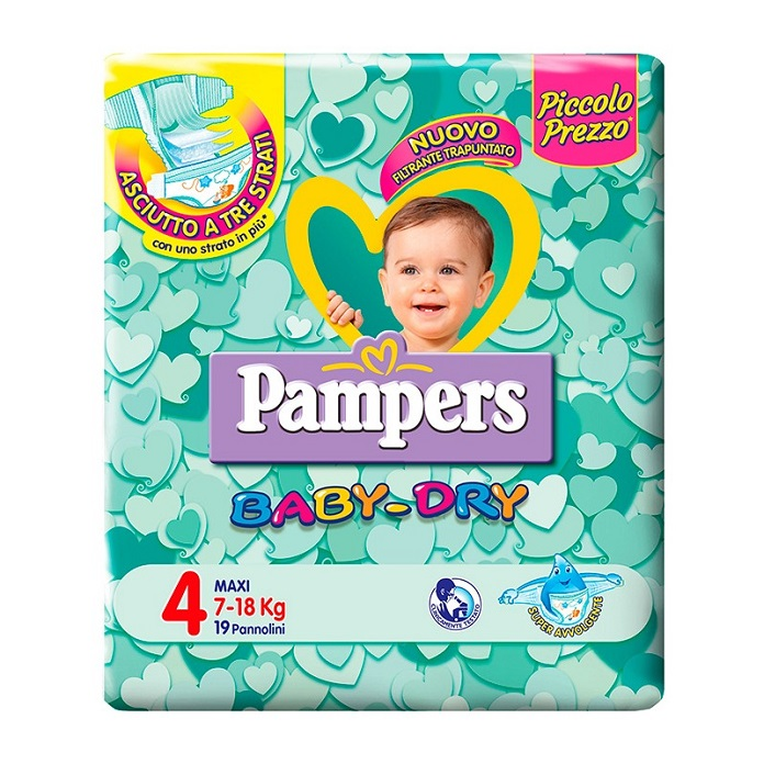 PAMPERS BABY DRY 4 MAXI ,PAMPERS,724063,8001480091283,ekarma.it