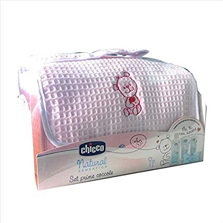CHICCO NATURAL SET PRIME COCCOLE ROSA : 8058664103676